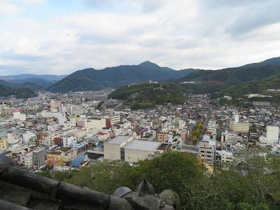 天守最上階から北東の眺望
