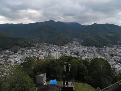 天守最上階から南東の眺望