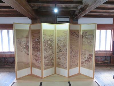 宇和島城下絵図屏風(複製品)