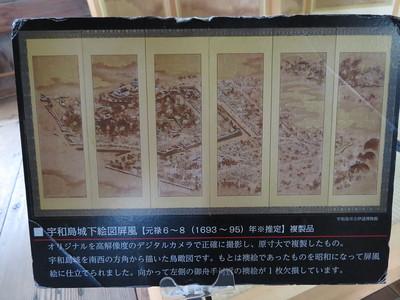宇和島城下絵図屏風