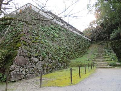 藤兵衛丸の石垣(長門丸より)