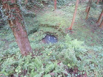 井戸跡(上から)