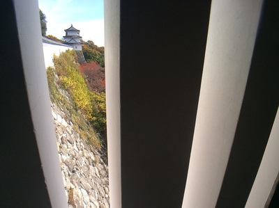 明石城坤櫓から見た巽櫓