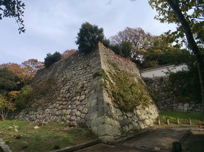 明石城の天守台石垣