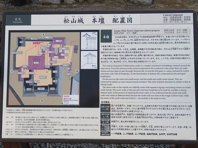 松山城 本壇 配置図