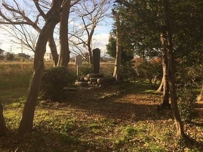 日光川から見る古城蹟(勝幡城跡)