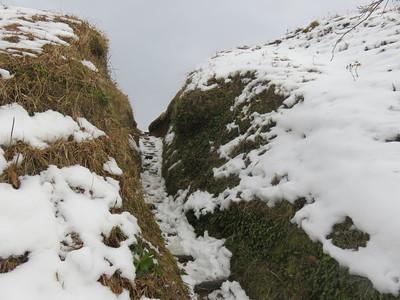 本城跡の登り口