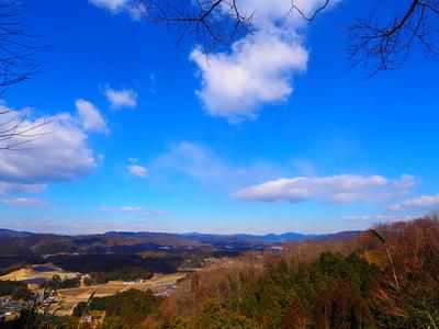 主郭付近からの眺望◆本城