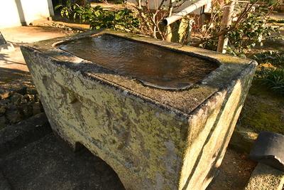 称念寺の手水鉢(凍ってる)