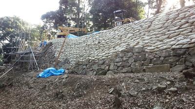 角牟礼城 2の丸 石垣