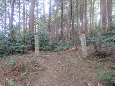 伝織田信澄邸跡と伝森蘭丸邸跡の石碑