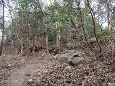 残石が散乱する城址