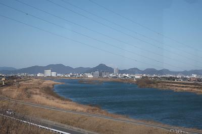 岐阜城稲葉山を望む