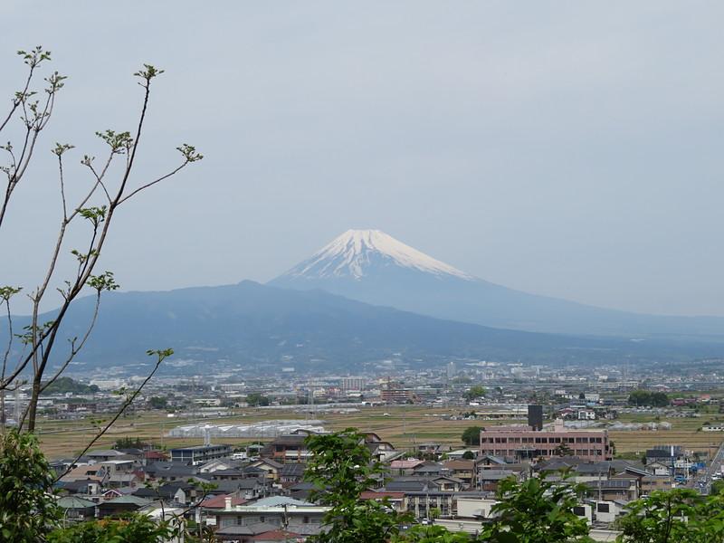 韮山城からの富士山
