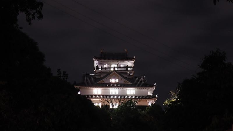 夜の岐阜城