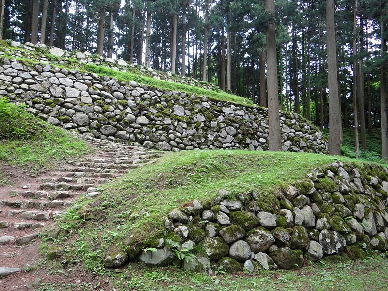 桜馬場下の石垣[七尾城]