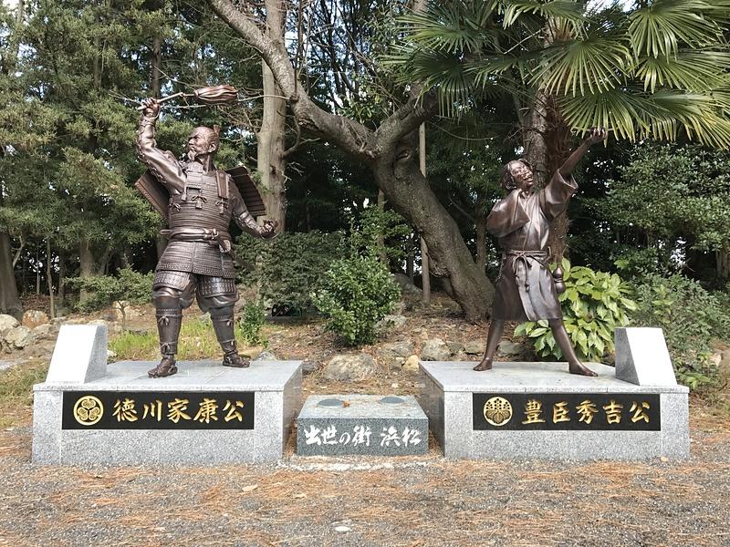 引馬城跡(浜松元城町東照宮)にある銅像