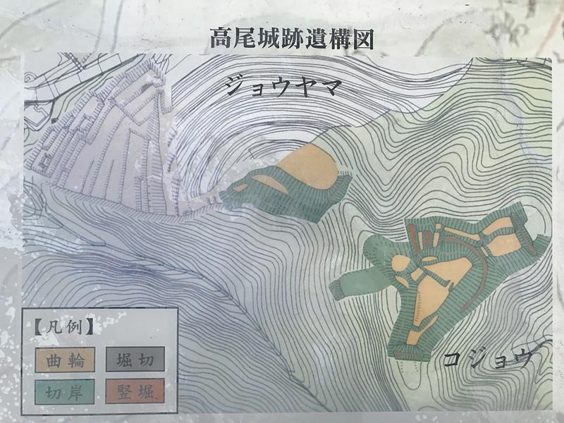 高尾城跡遺構図