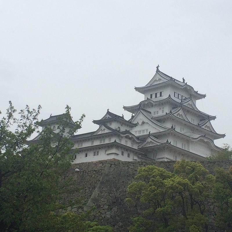 雨の姫路城