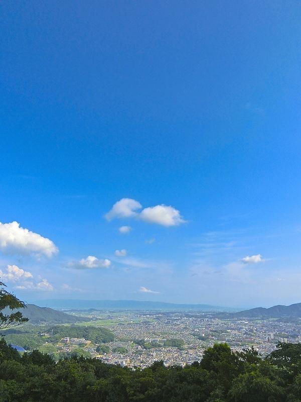 焼米ヶ原頂上より太宰府方向の眺望