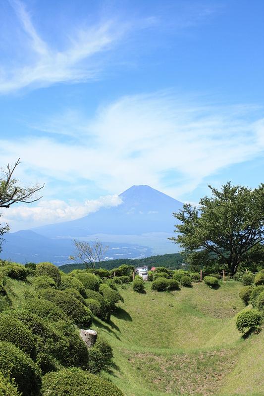 山中城から見える富士山