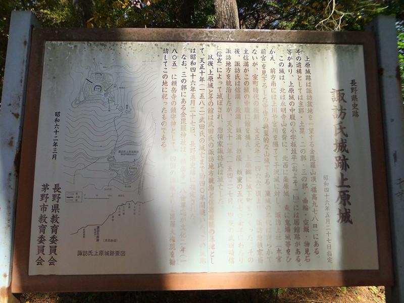 諏訪氏城跡上原城