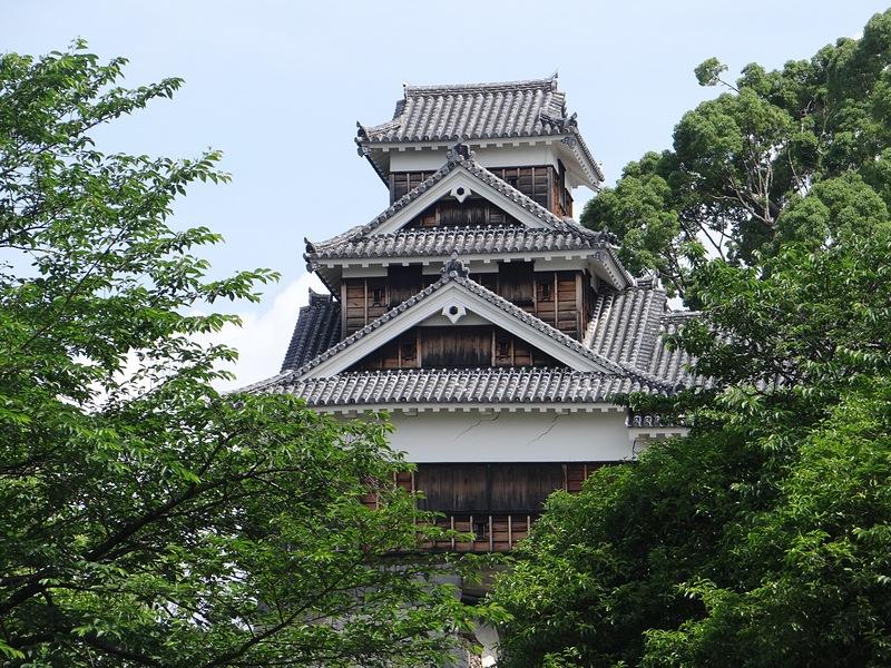 飯田丸五階櫓(坪井川側から)