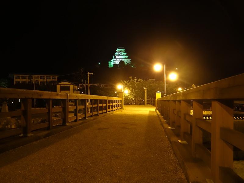 ライトアップ(城内橋から)[唐津城]