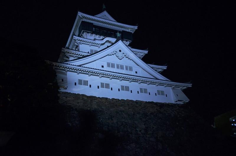 小倉城天守ライトアップ