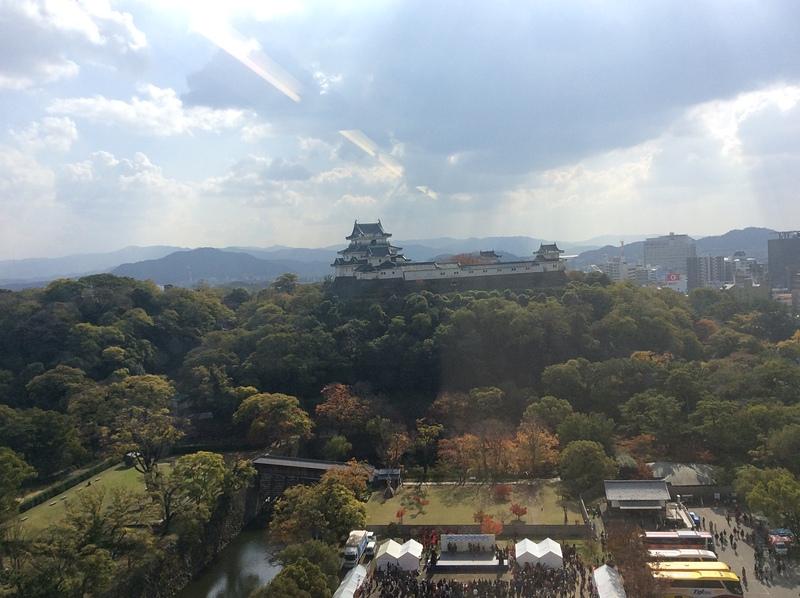 市役所展望スペースから見た和歌山城