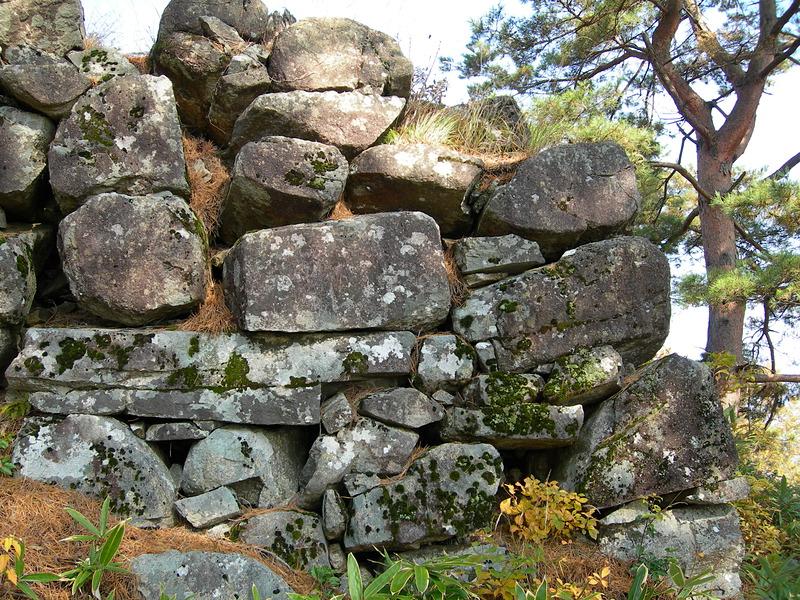 二の丸で見た石垣