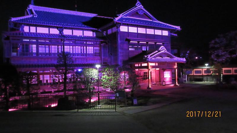 臨江閣のライトアップ