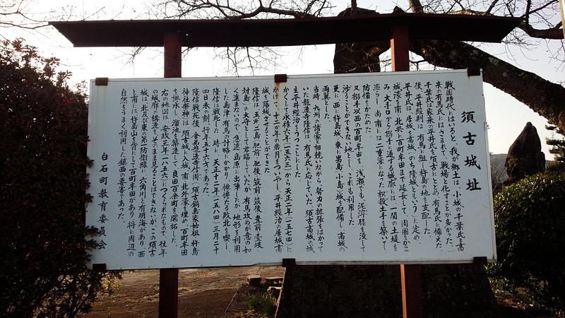 須古城 説明板
