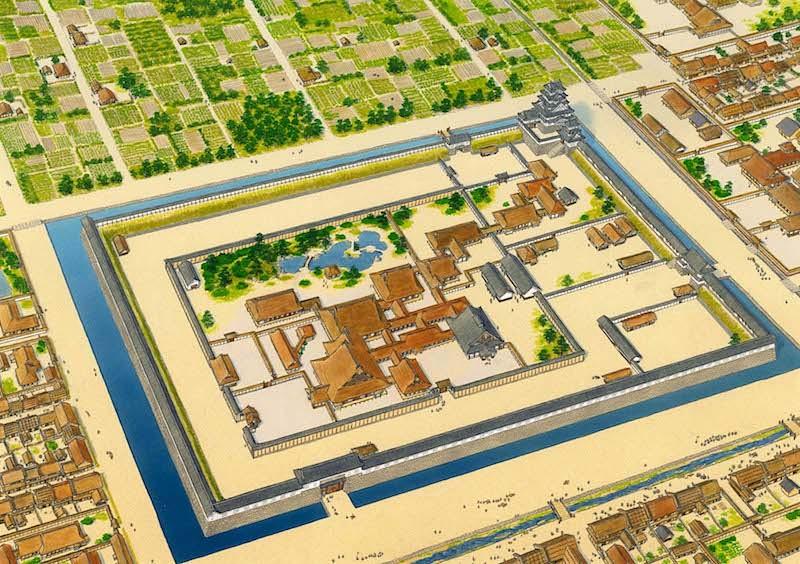 慶長期二条城復元図[二条城]