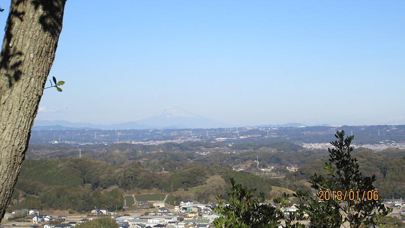 御前曲輪からの富士山