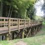 南側土塁へ行く橋