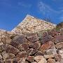 巻き石垣手前の石垣
