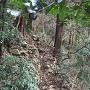 馬蹄郭群北側の石垣跡