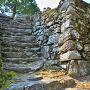 本丸跡の石段と石垣(3)