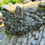 本丸跡の石段と石垣(1)
