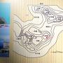 堀江城縄張り図(案内板より)