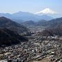 南物見台から富士を望む