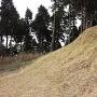 鷹取城 主郭の切岸
