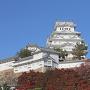 紅葉と姫路城(秋)[提供:姫路市]