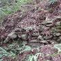 直谷城 二の木戸跡 石積み