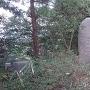 弓木城跡の石碑