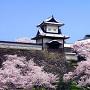 桜の時期の石川門[提供:金沢市]