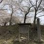 まだ、桜が咲いている城址