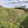 残された石垣と空堀