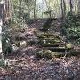 岩見丸山城 八の曲輪から西の丸にのぼる階段